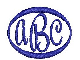 Monogram example for pashmina