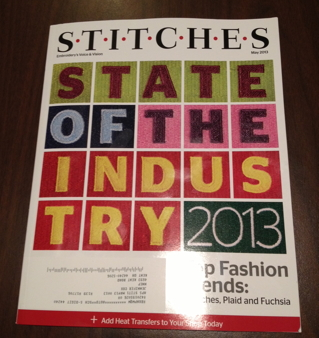 Stitches Magazine cover featuring work by NNEP members