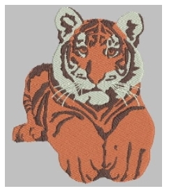Auto-digitized tiger