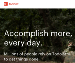 Recommendery todoist app