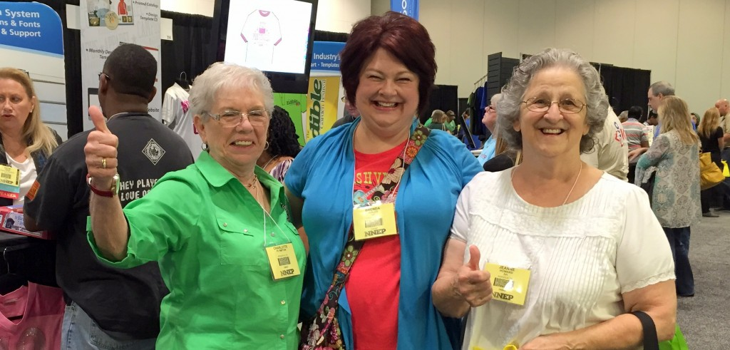 Happy embroidery professionals at NNEP's Embroidery trade show, Embroidery Mart