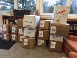509 Pounds of donations to DoDuds, ready to ship out to women's shelters in several regions of the US on Monday.