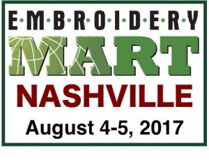 Embroidery Mart-NASHVILLE Aug. 4-5, 2017