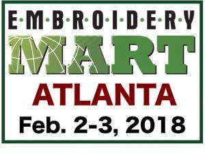 Embroidery Mart-ATLANTA Feb. 2-3, 2018