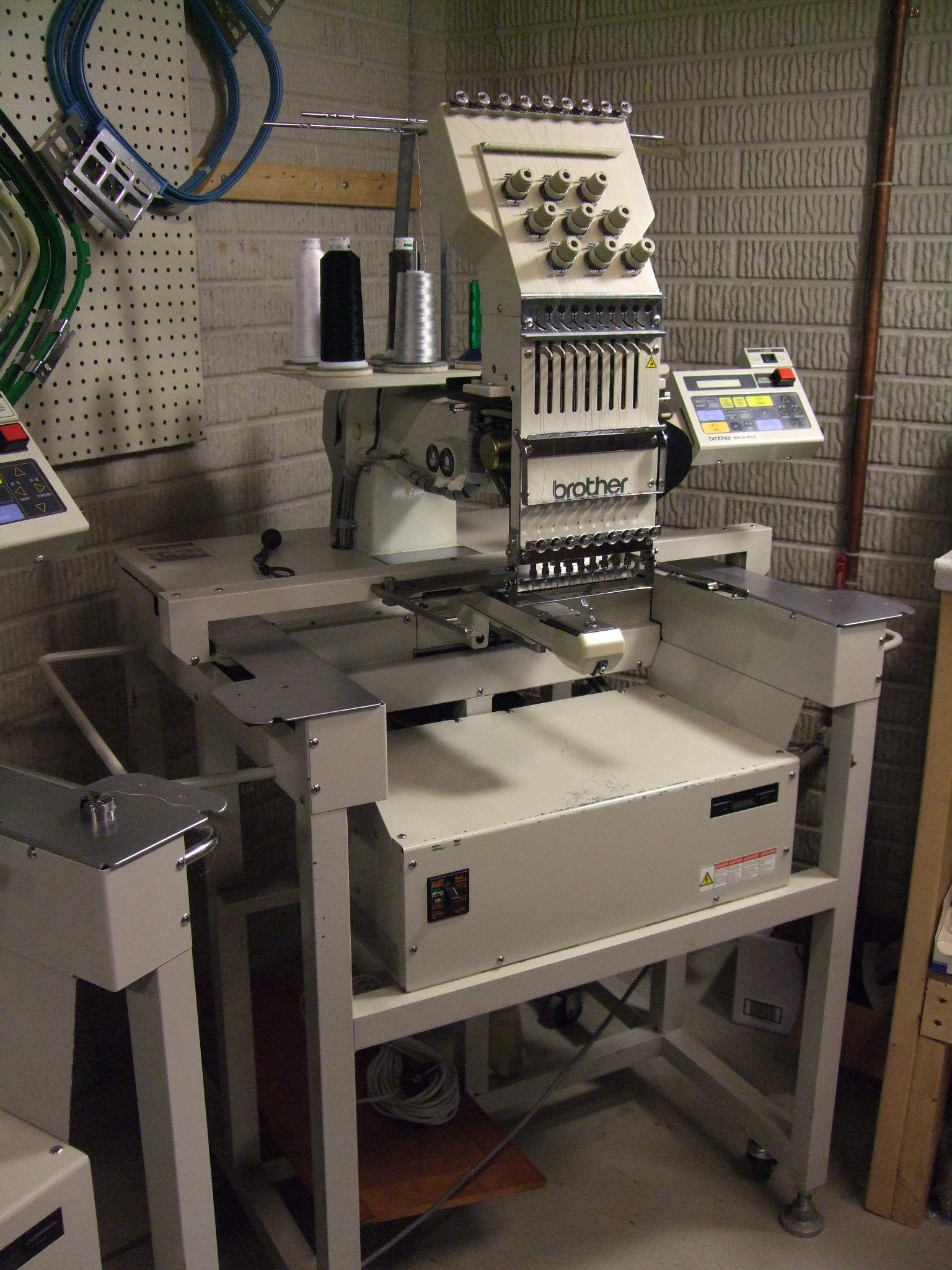Brother BAS416 Single Head 9 Needle Industrial Embroidery Machine - only $1500