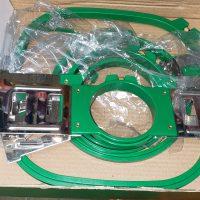 Hat gauges and hat hoops, Green Hoops, Hoop Tech  frames, and Industrial Juki